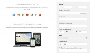 Gmail correo - registrar